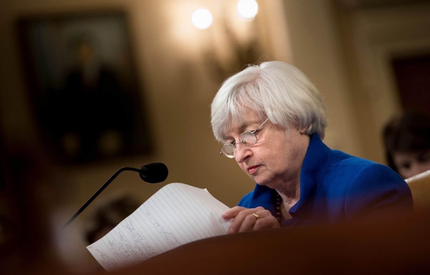 La présidente de la Réserve fédérale américaine, Janet Yellen, cédera son poste en février.