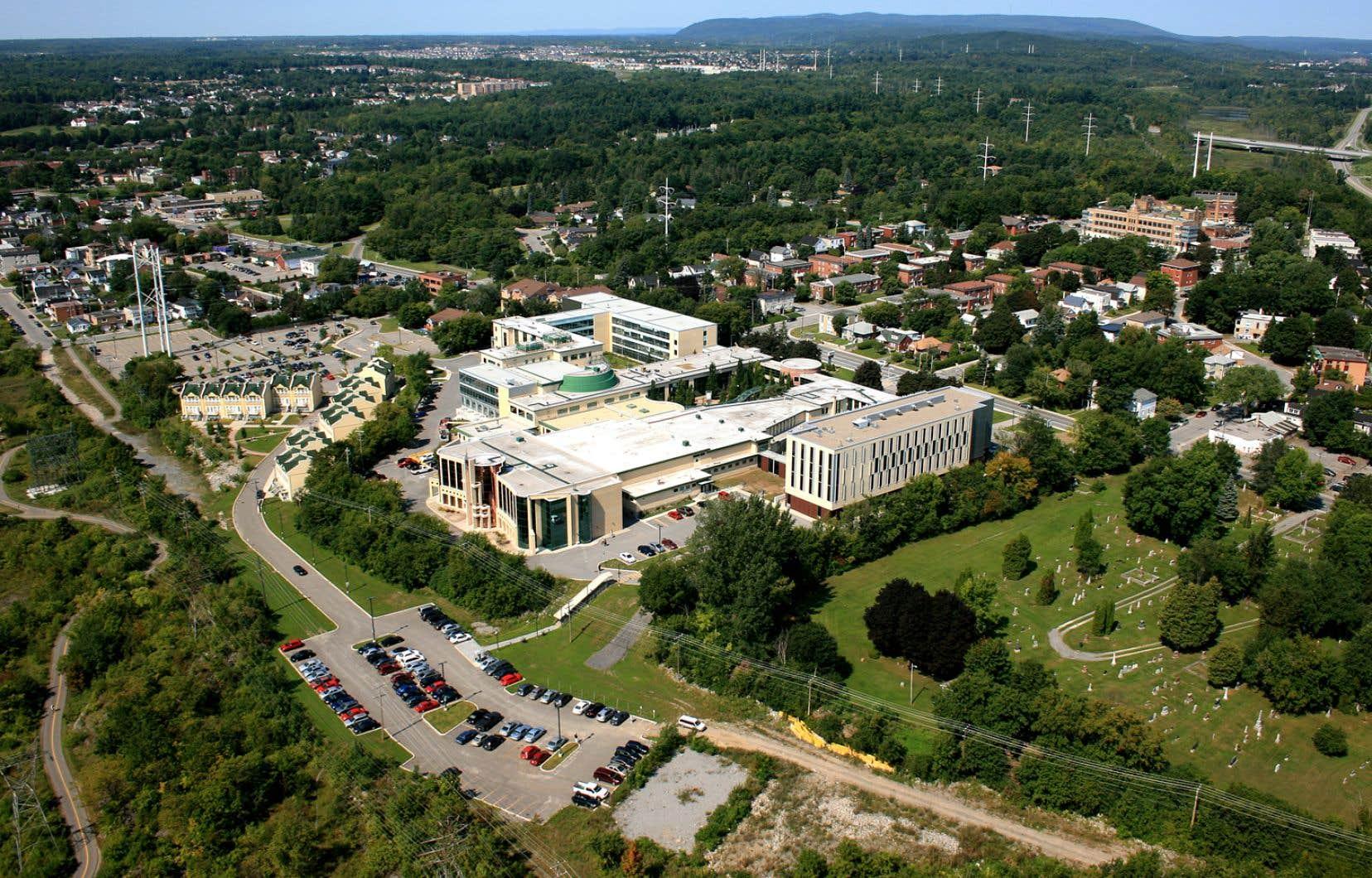 Vue aérienne de l'Université du Québec en Outaouais