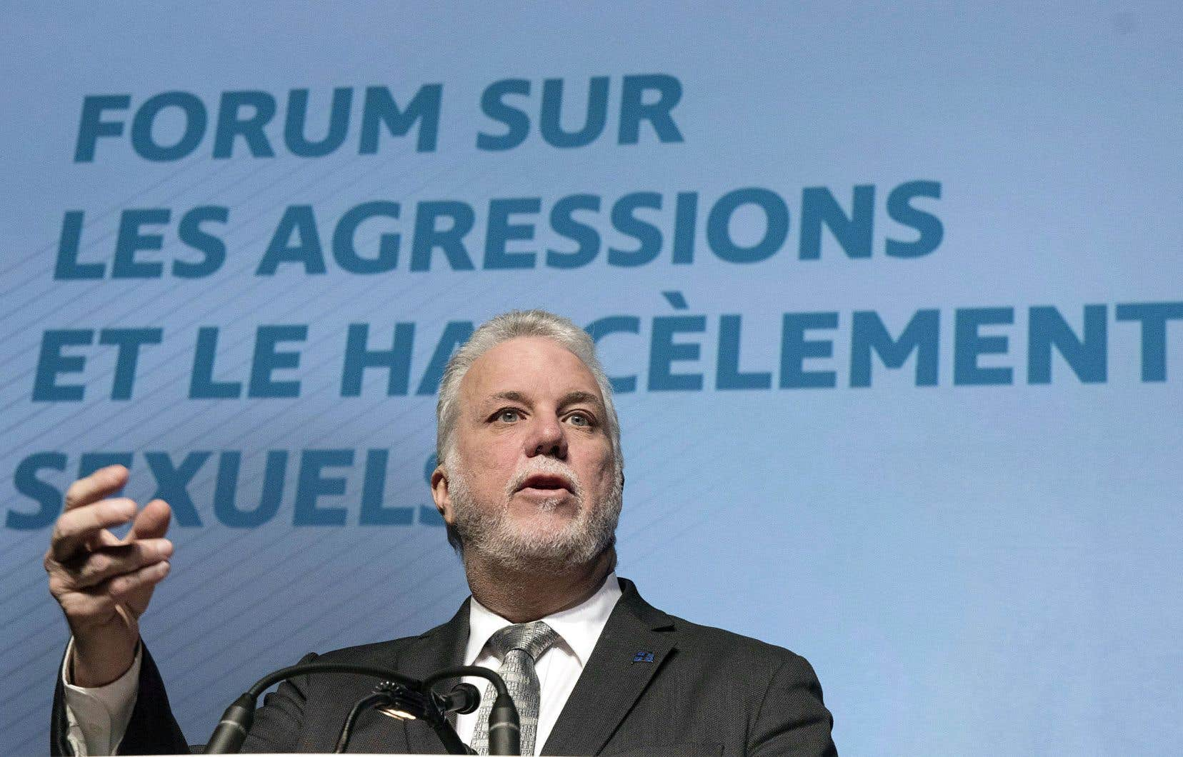 Le premier ministre Philippe Couillard était lui-même présent au forum.