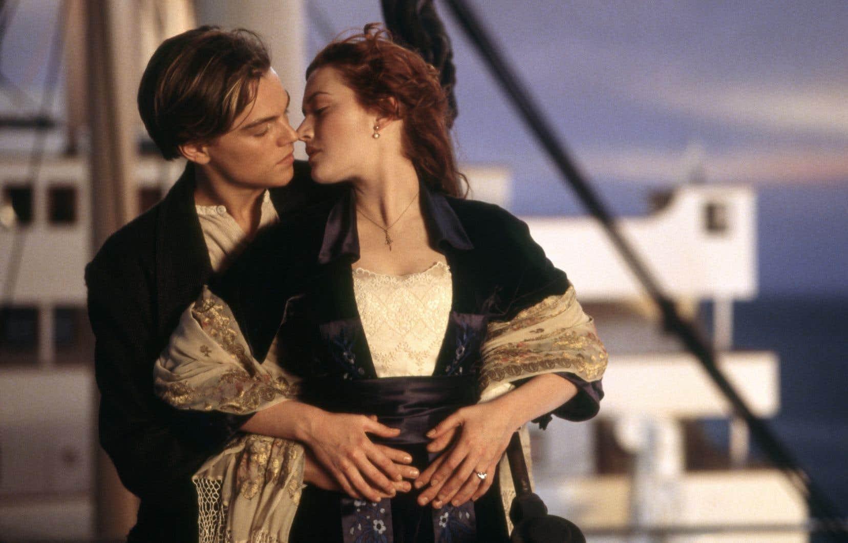 Leonardo DiCaprio et Kate Winslet dans le film «Titanic» de James Cameron
