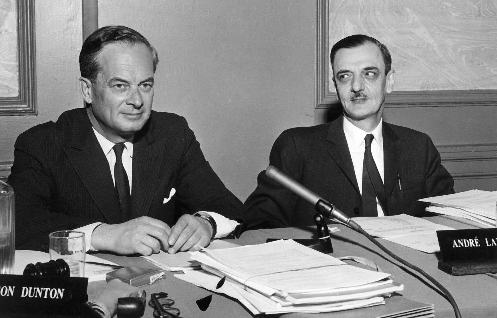 La commission Laurendeau-Dunton, créée en 1963 par le gouvernement Pearson, n'est pas une création «ex nihilo».