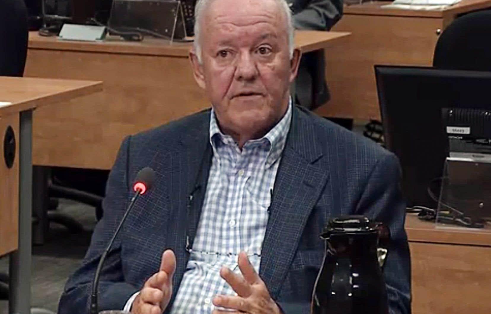 L'ancien ministre Marc-Yvan Côté à la commission Charbonneau