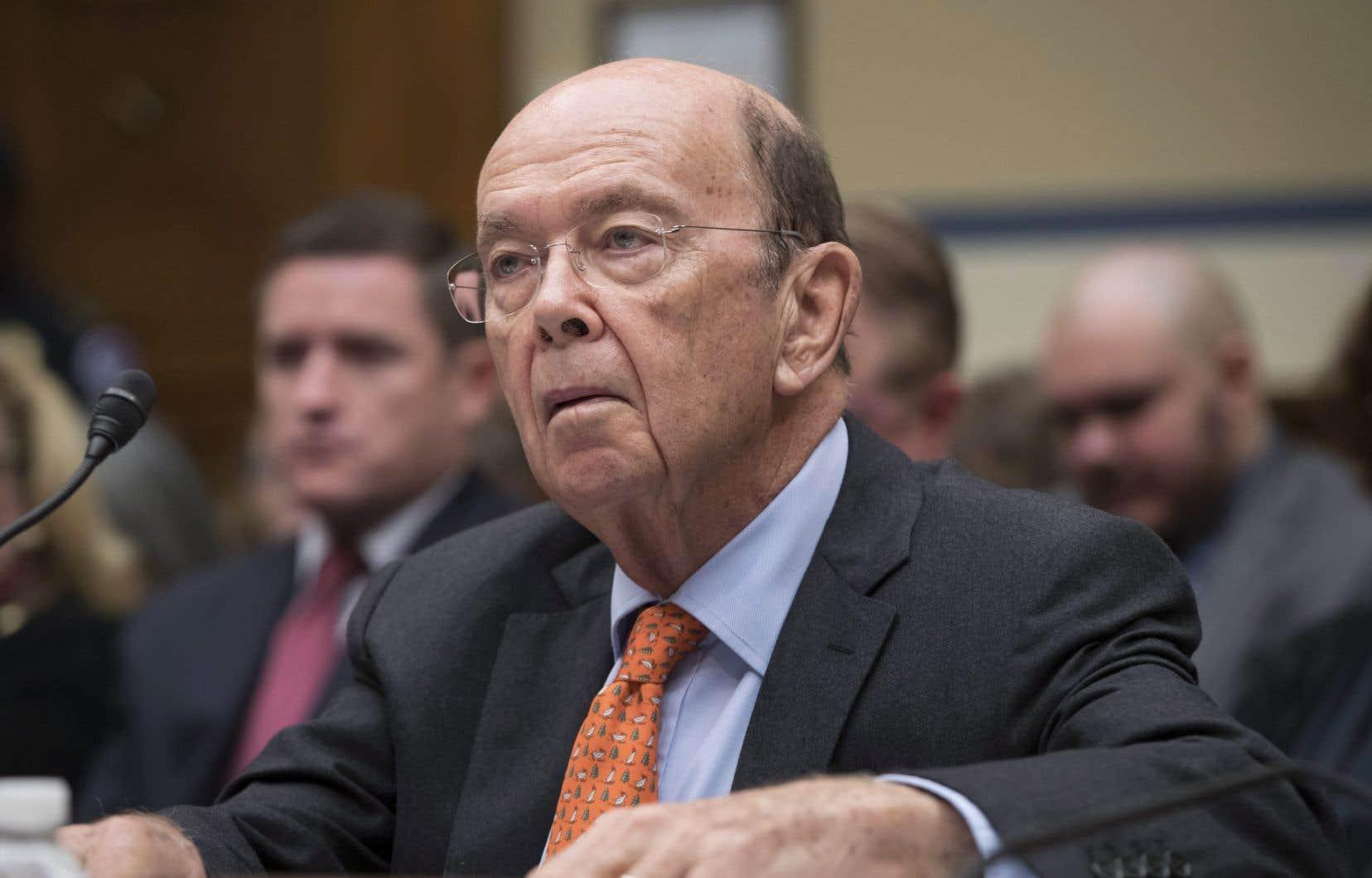 «La décision repose sur une étude intégrale et non biaisée des faits dans le cadre d'un processus ouvert et transparent», a indiqué le secrétaire américain au Commerce, Wilbur Ross.