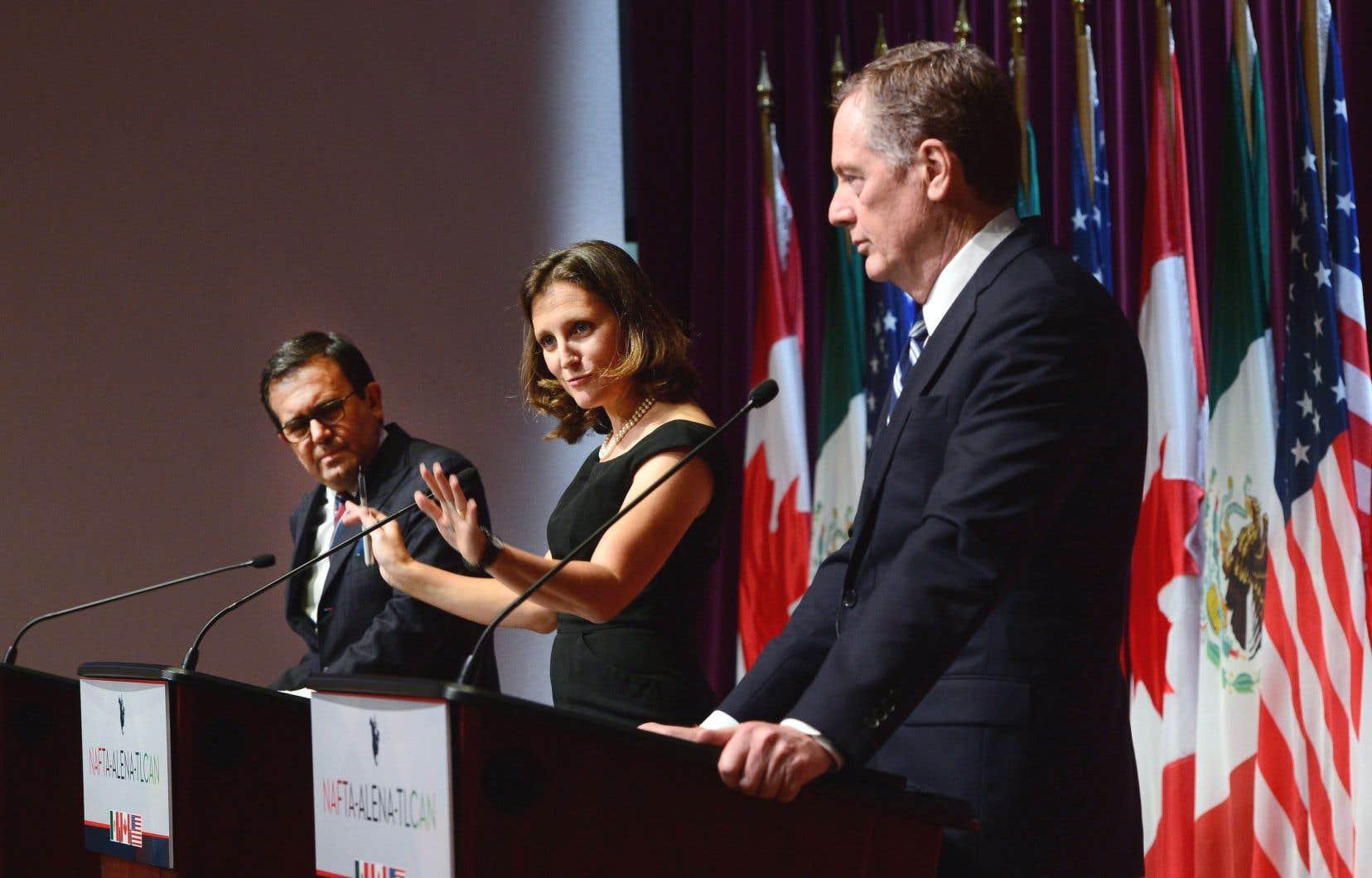 La renégociation de l'Accord de libre-échange nord-américain a marqué l'année 2017.