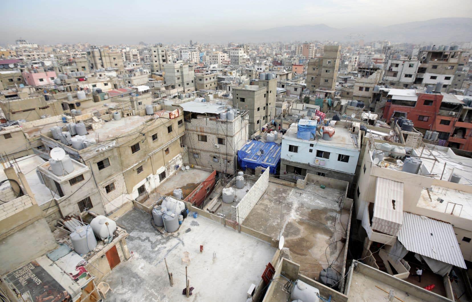 Le camp de Burjal-Barajneh, au Liban, où vivent plus de 174 000 réfugiés palestiniens, selon un premier recensement officiel effectué l'an dernier.