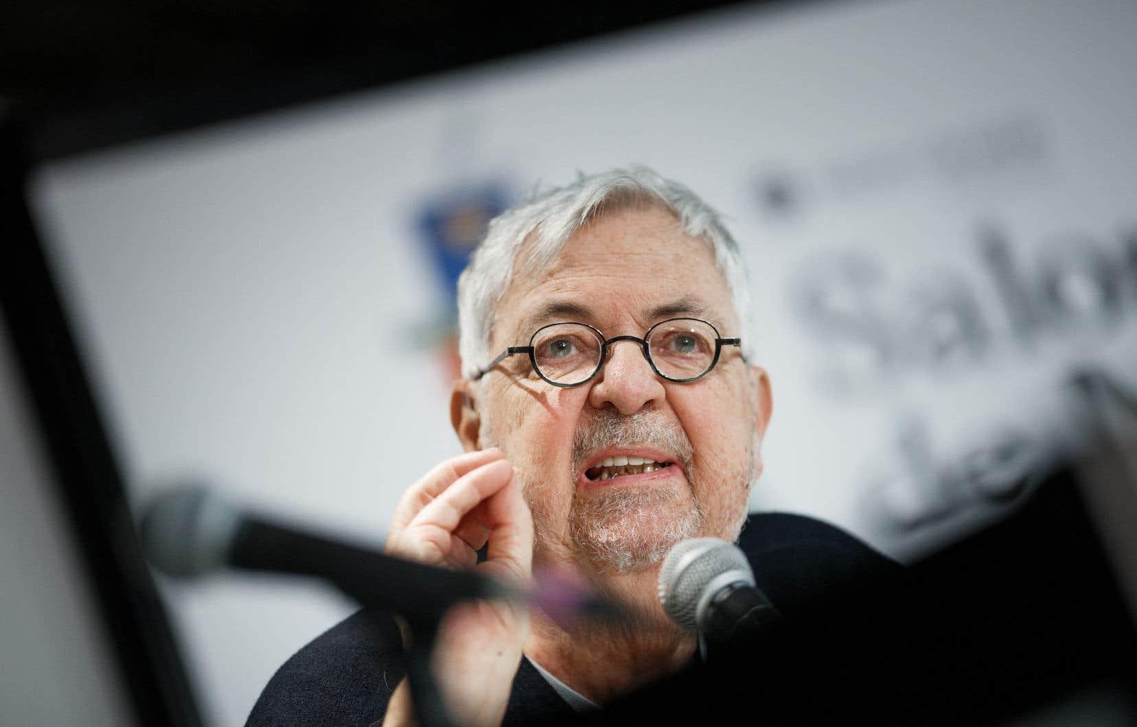 L'écrivain et dramaturge Michel Tremblay, au Salon du livre de Montréal, en novembre dernier