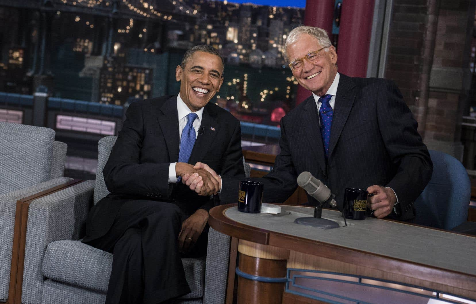 Barack Obama a rendu visite à plusieurs reprises à David Letterman au «Late Show».