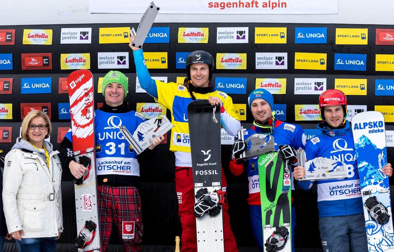Galmarini a triomphé en super finale devant le Slovène Rok Marguc, tandis que l'Autrichien et héros local Alexander Payer gagnait la petite finale contre le coéquipier de Marguc, Zan Kosir.