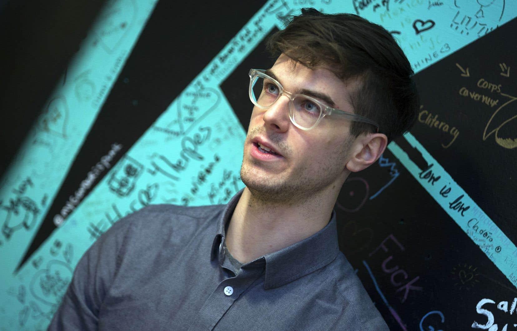 L'animateur de l'émission du matin à CIBL, Julien Poirier-Malo