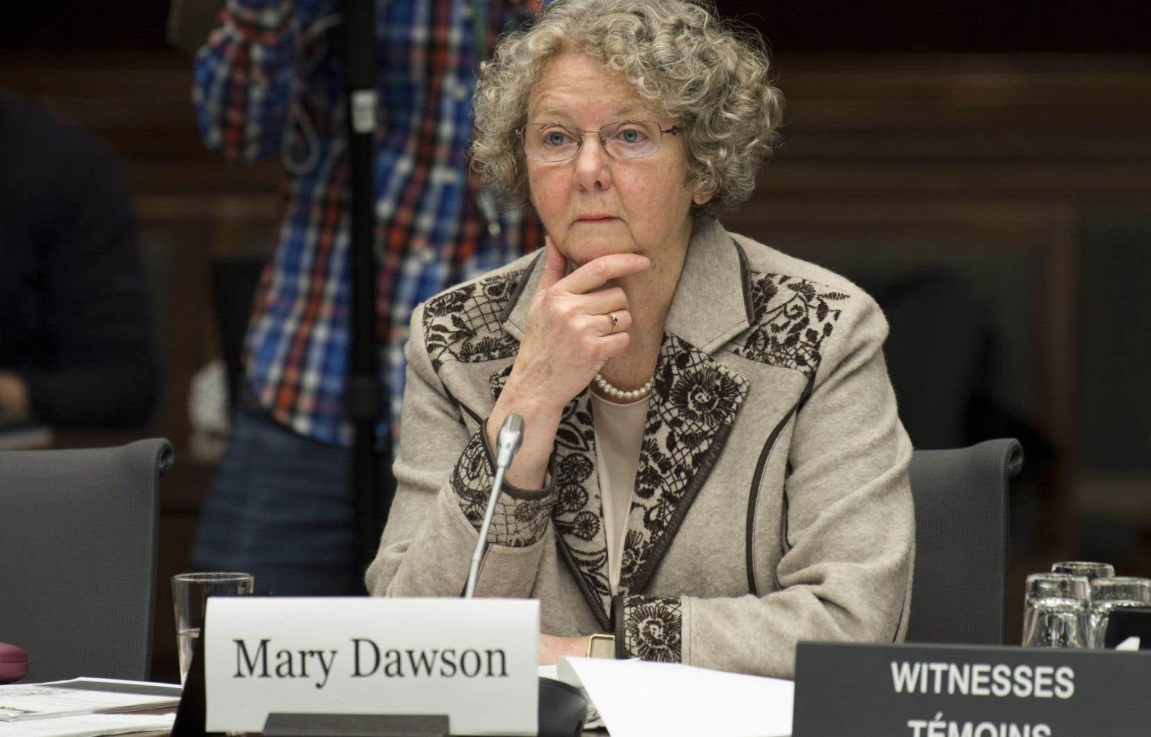 L'ex-commissaire à l'éthique Mary Dawson comparaissait en comité parlementaire pour discuter de son rapport sur les vacances du premier ministre chez l'Aga Khan.