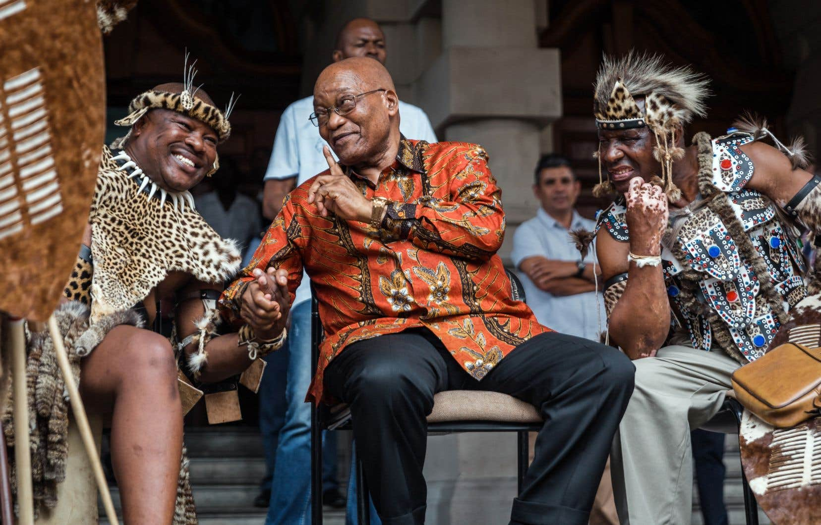 Le président sud-africain, Jacob Zuma, lors d'une rencontre avec des leaders de plusieurs communautés indigènes, le 5 janvier.