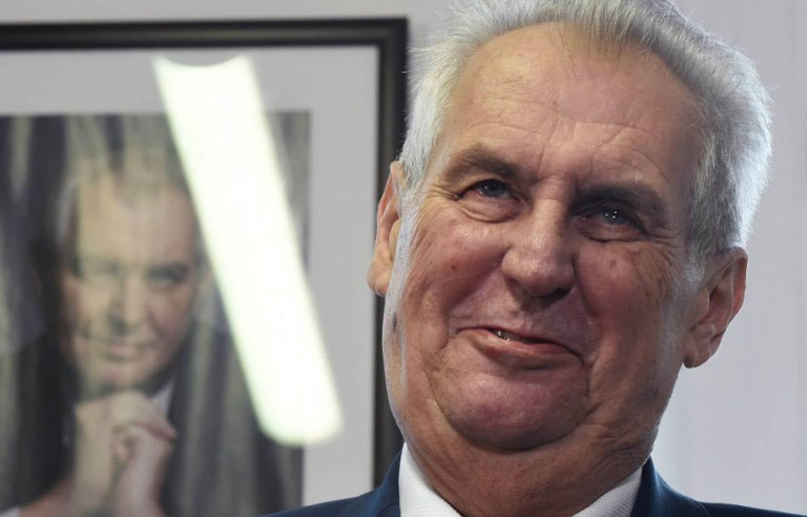 Le président sortant tchèque, le prorusse Milos Zeman