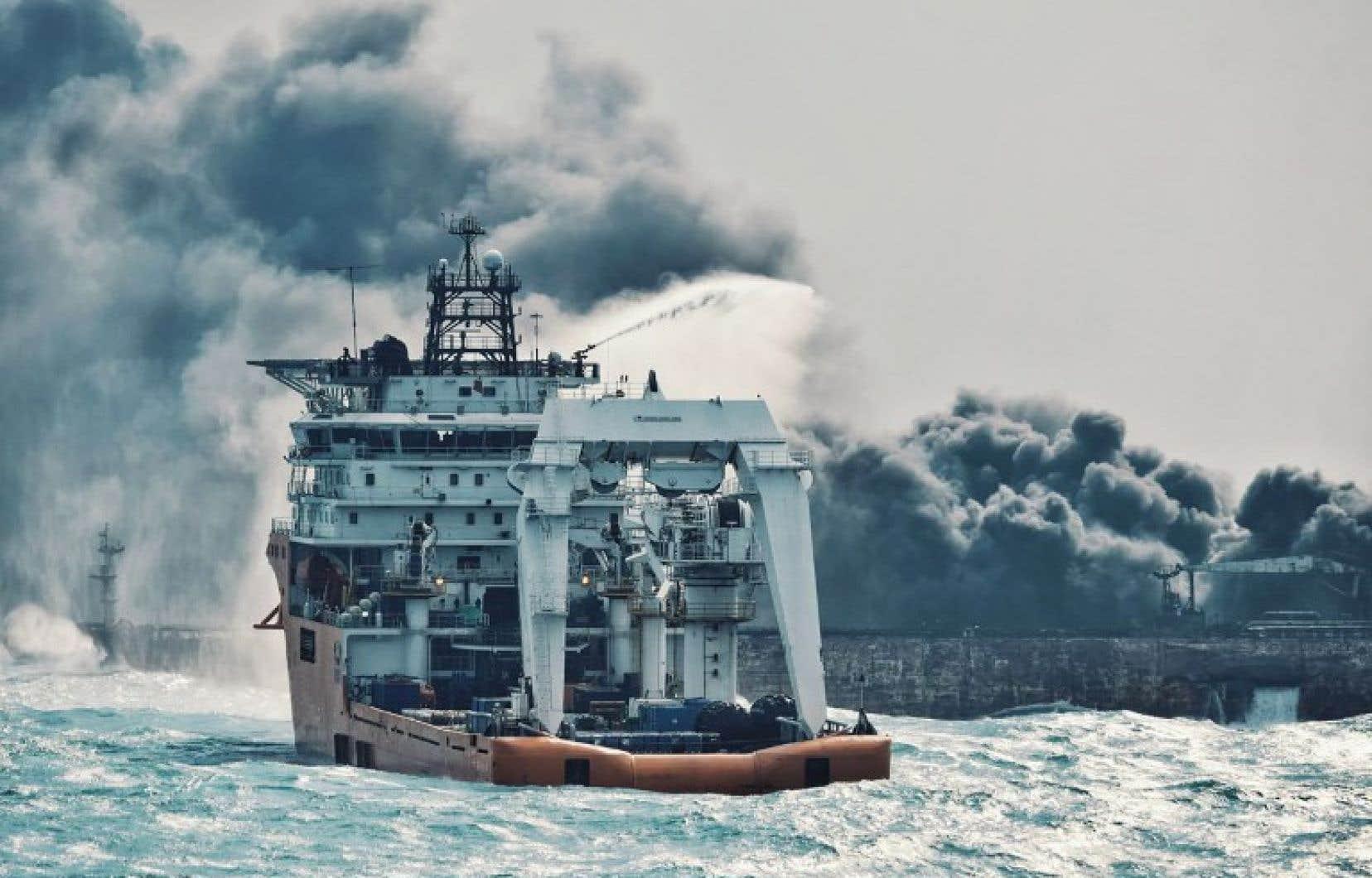 Le navire Sanchi avait 136000 tonnes d'hydrocarbures légers à son bord.