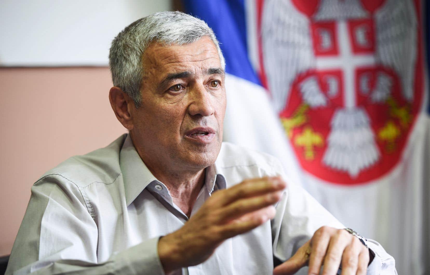 Le leader politique serbe Oliver Ivanovic, en mai dernier