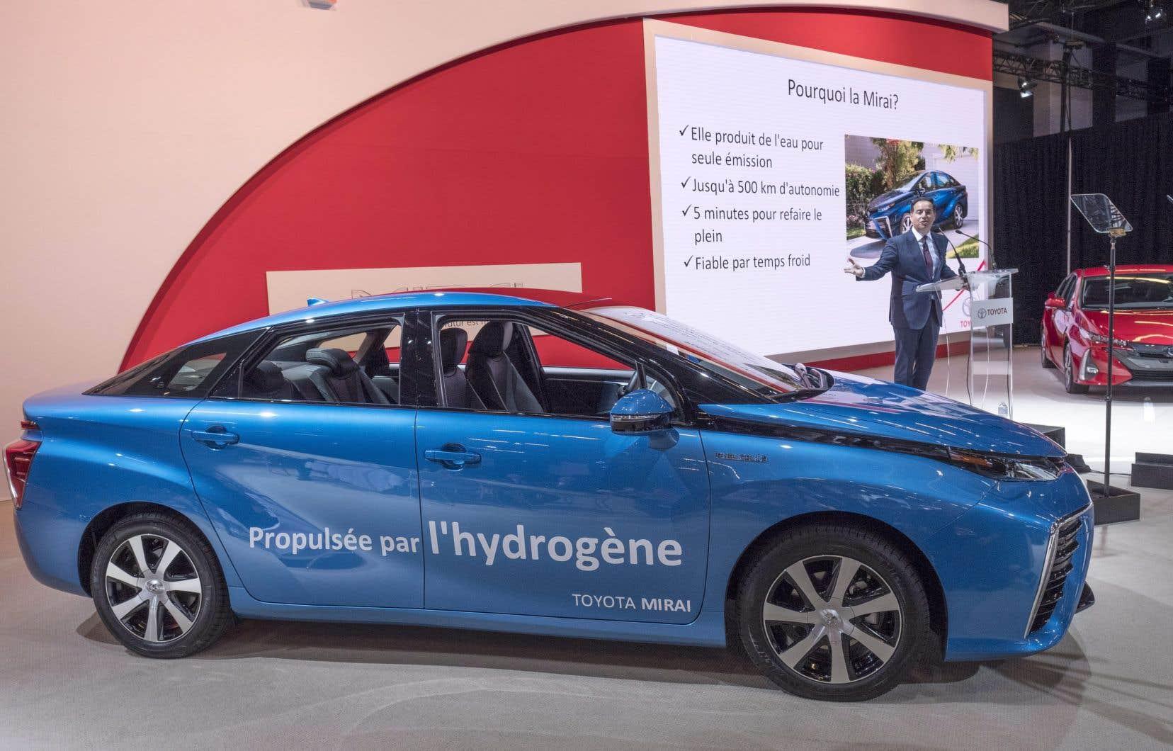 La Toyota Mirai est première voiture à l'hydrogène à faire son entrée au Canada.
