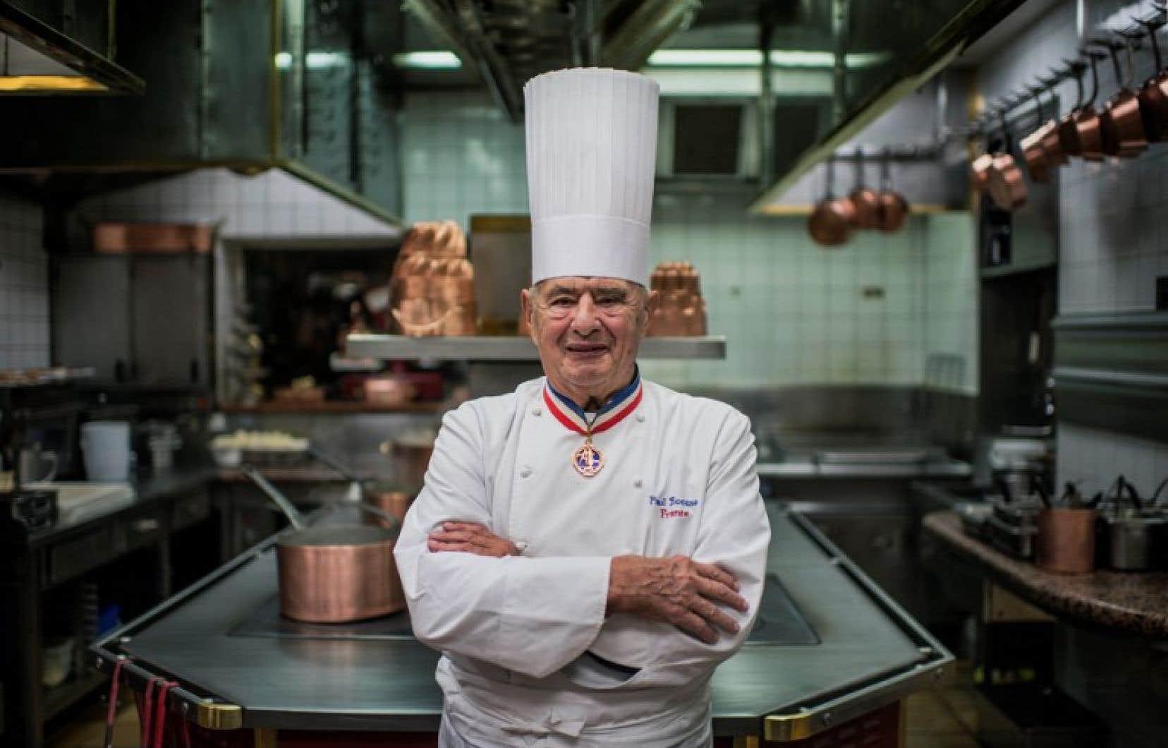 Le chef cuisinier, Paul Bocuse, en 2012