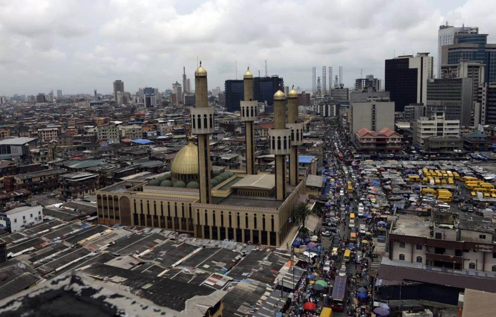 Vue de Lagos, la capitale commerciale du Nigéria