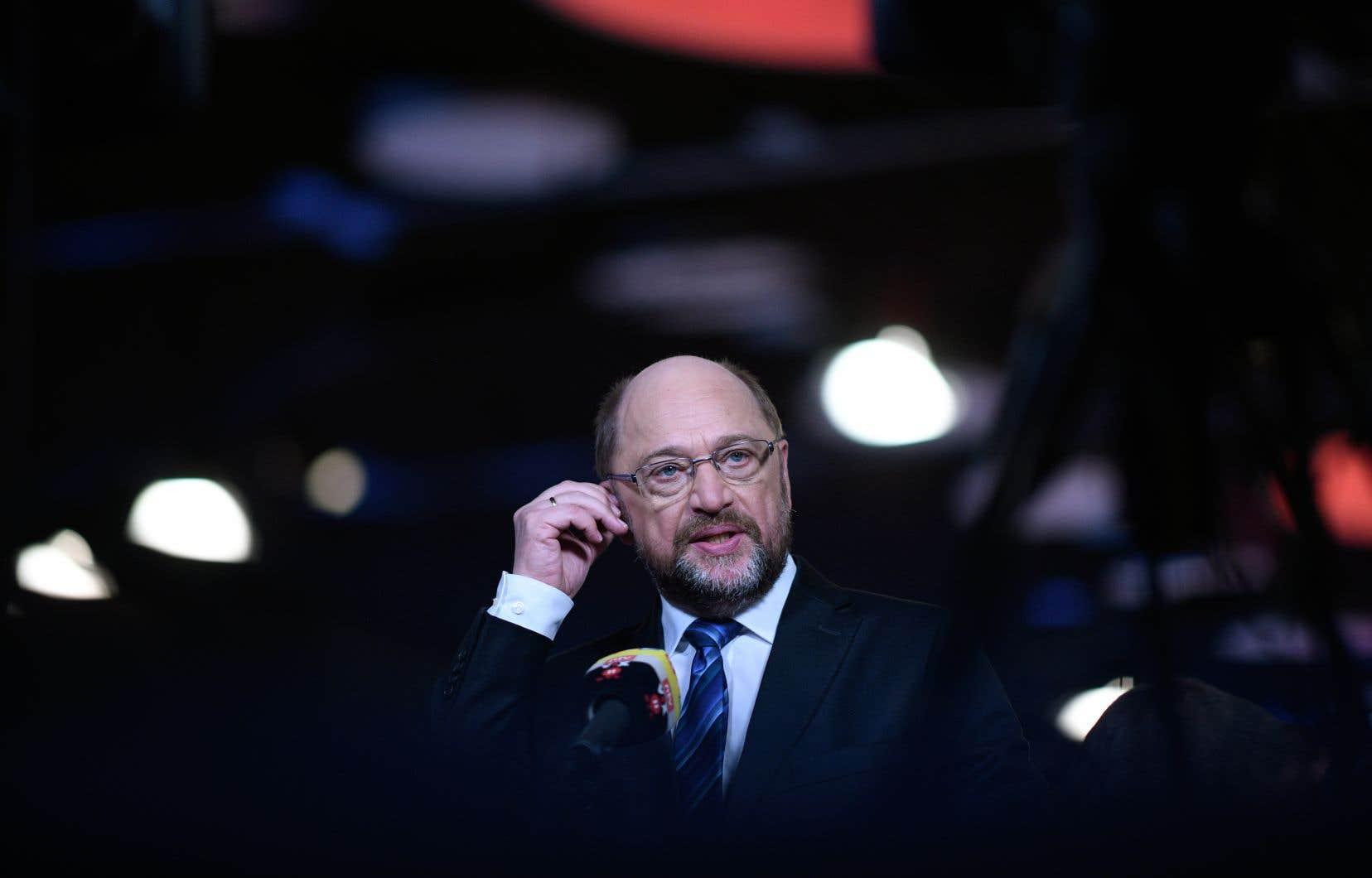 Le leader du parti social-démocrate allemand, Martin Schulz, lors du congrès tenu dimanche