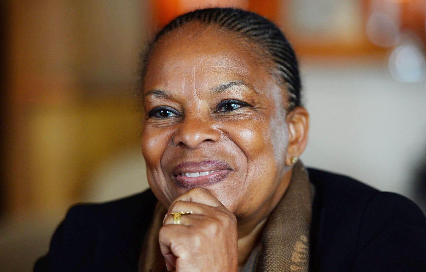 L'ex-ministre française de la Justice, Christiane Taubira, sera de l'événement. Elle est photographiée ici en avril 2015 à Ottawa.