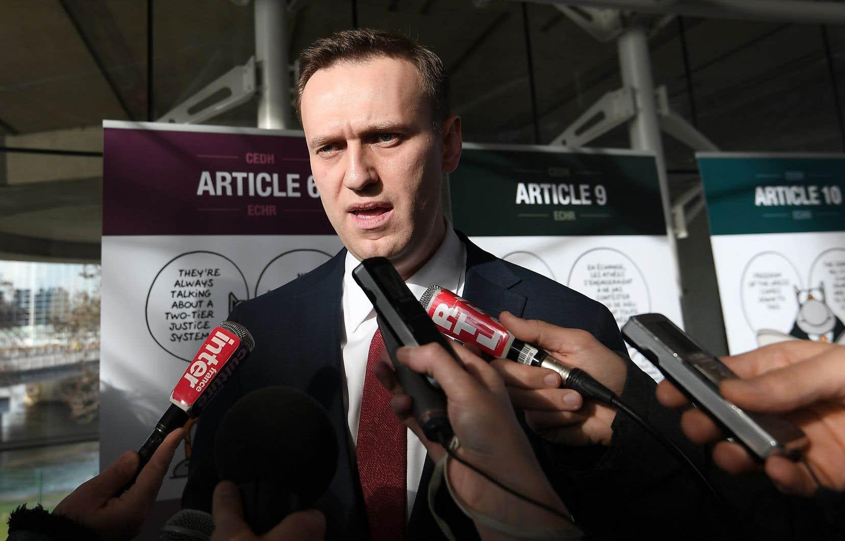 «Au cours des dernières années, j'ai été incarcéré pas moins de sept fois», a dénoncéAlexeï Navalny mercredi.