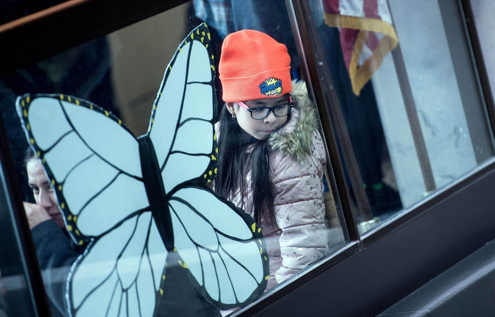 Une jeune fille défendant les «Dreamers», au cours d'un rassemblement à Washington la semaine dernière