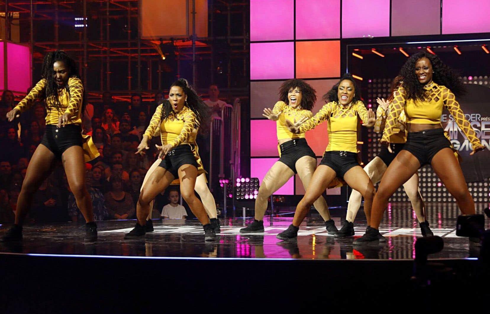 Numéro de danse urbaine à «Danser pour gagner», diffusée sur V.