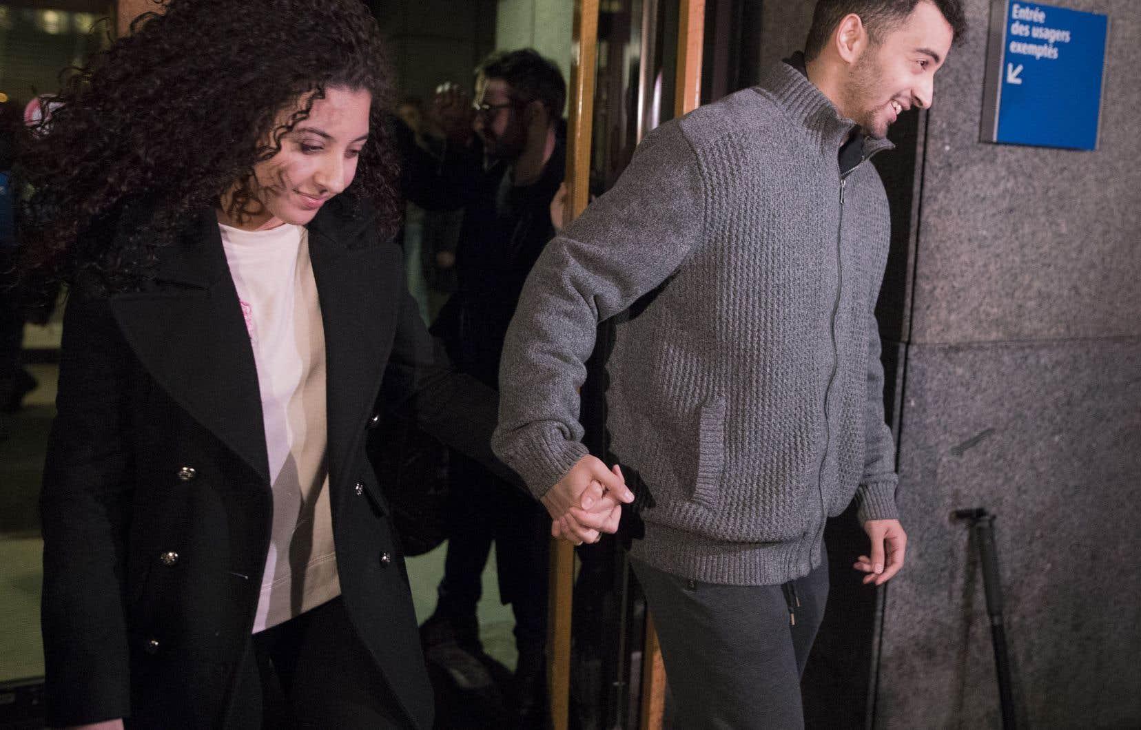 Sabrine Djermane et El Mahdi Jamali ont été acquittés des accusations de terrorisme qui pesaient contre eux le 19décembre dernier.