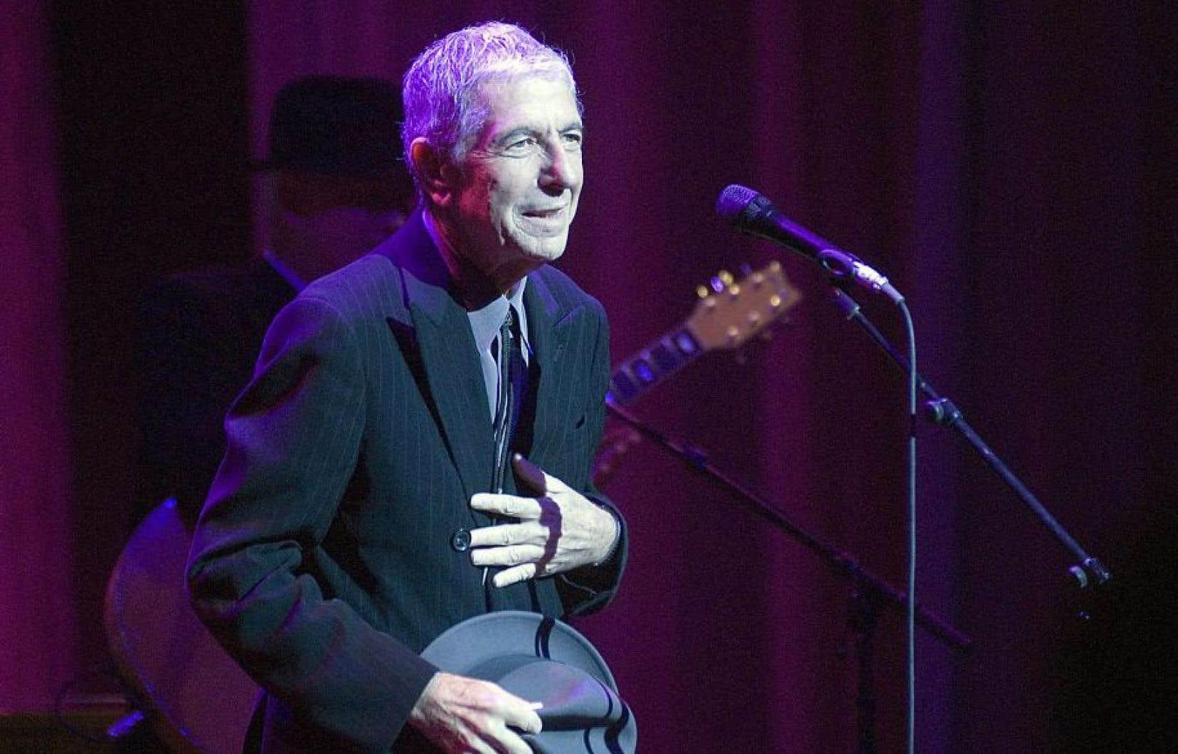 Le chanteur et poète Leonard Cohen