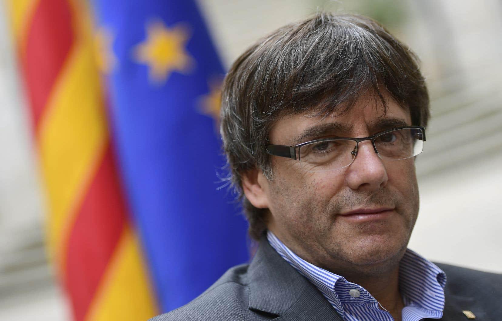 La reconquête du pouvoir au nom de la souveraineté des Catalans était le principal slogan de campagne de Carles Puigdemont.