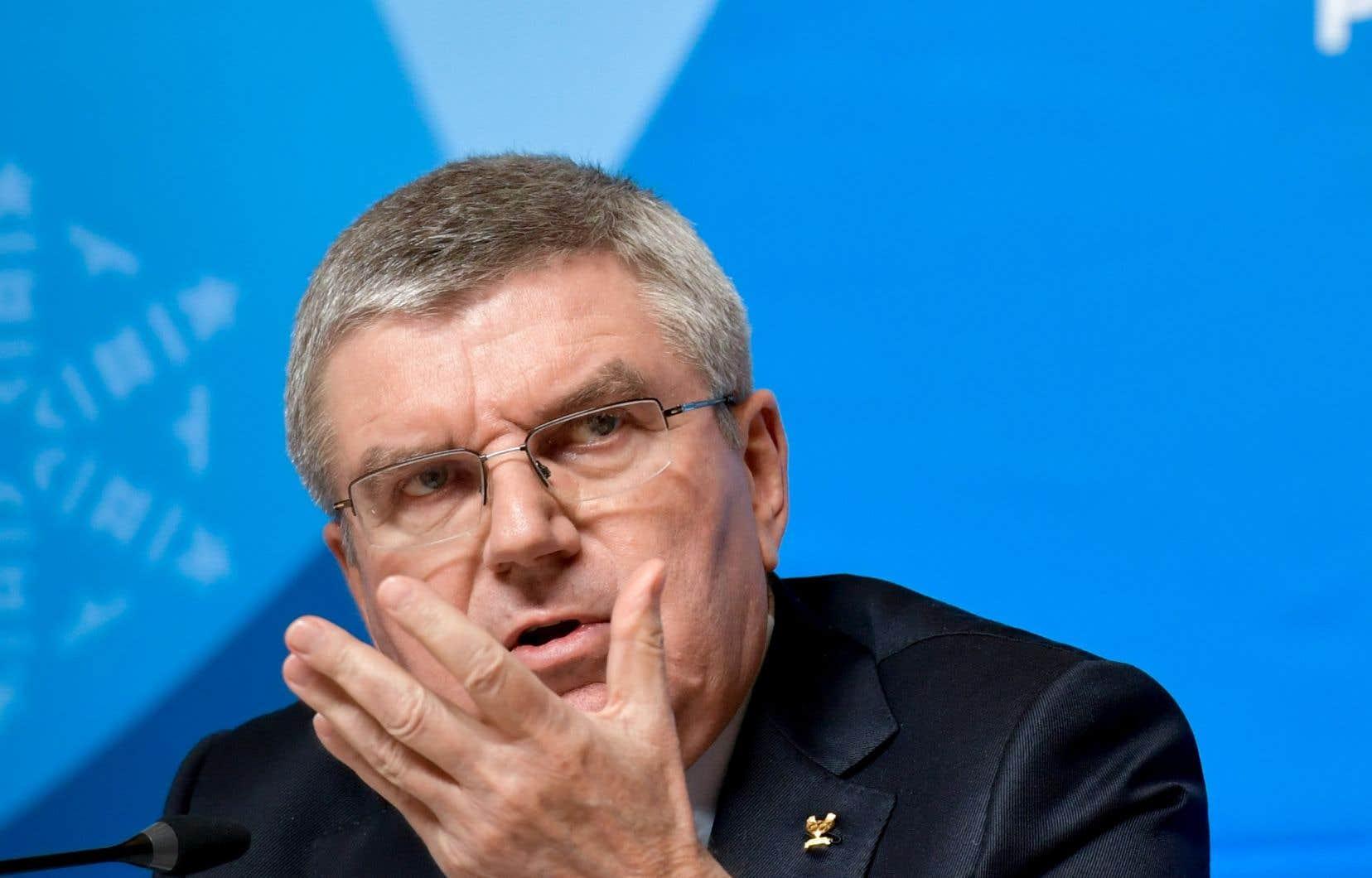 «Nous n'aurions jamais imaginé pareille décision», a déclaré le patron du Comité international olympique, Thomas Bach.