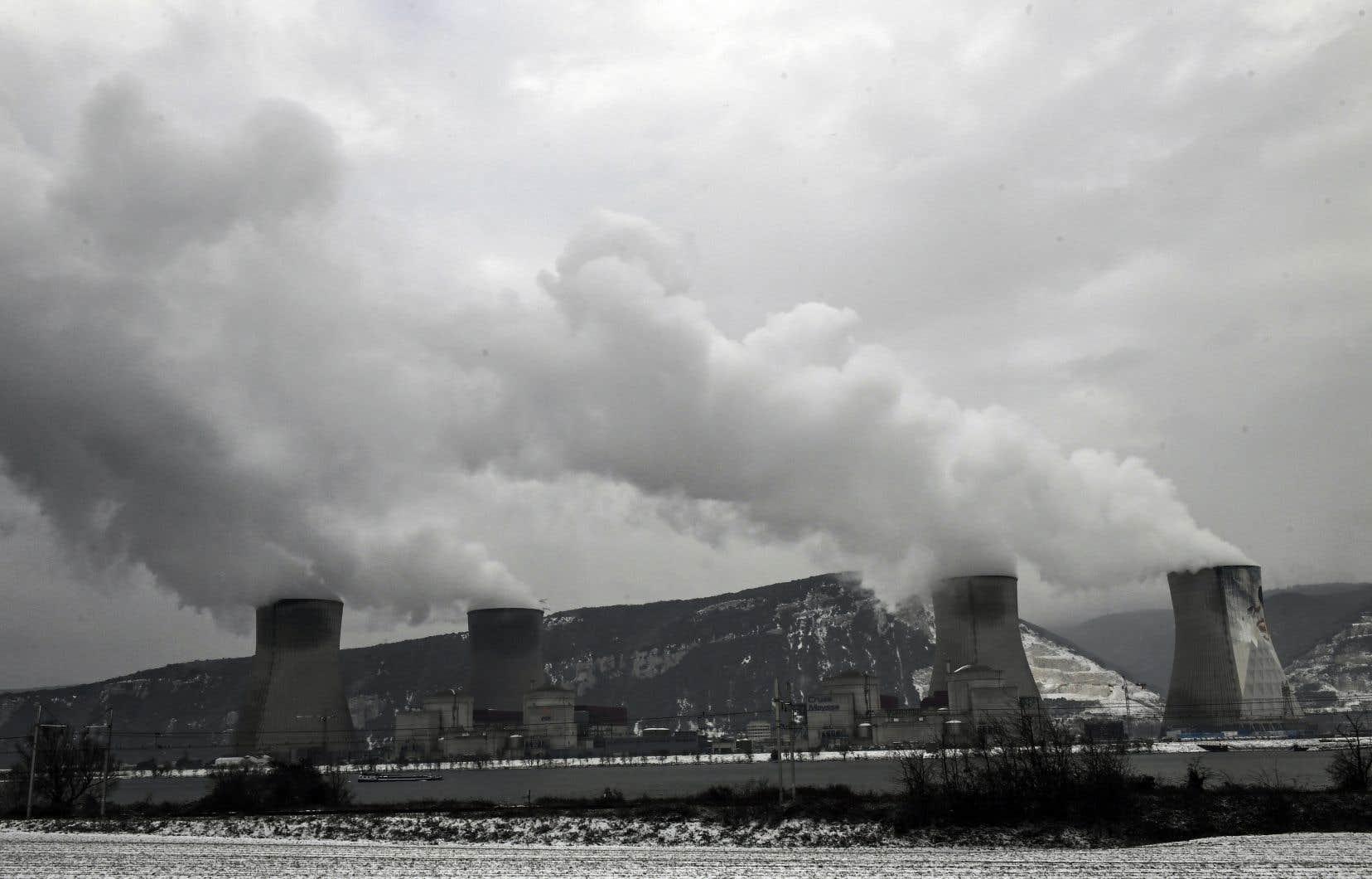 La centrale nucléaire de Cruas-Meysse, située à proximité du Rhône