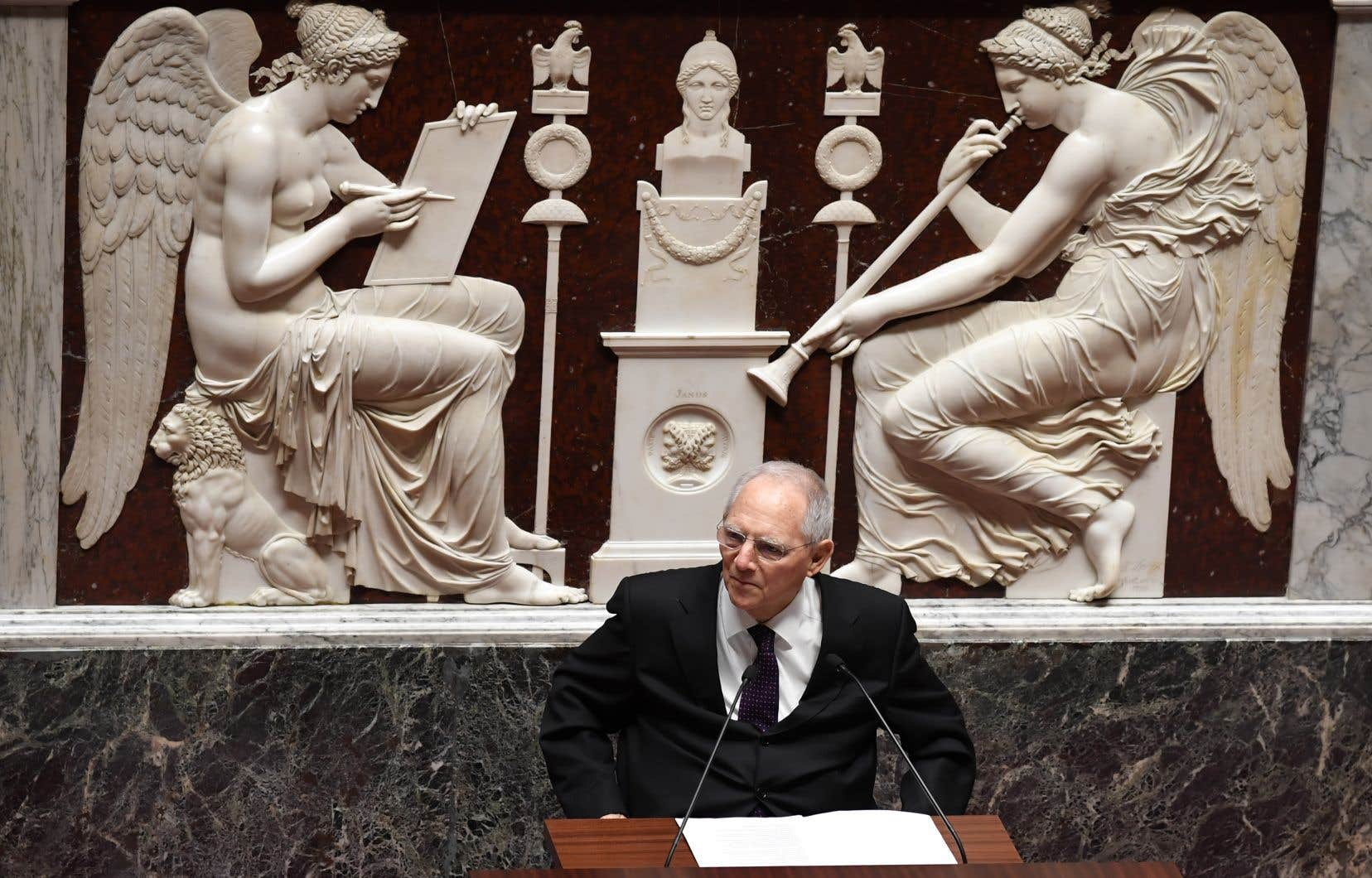 <p>L'ex-titulaire du poste des Finances, Wolfgang Schaüble</p>