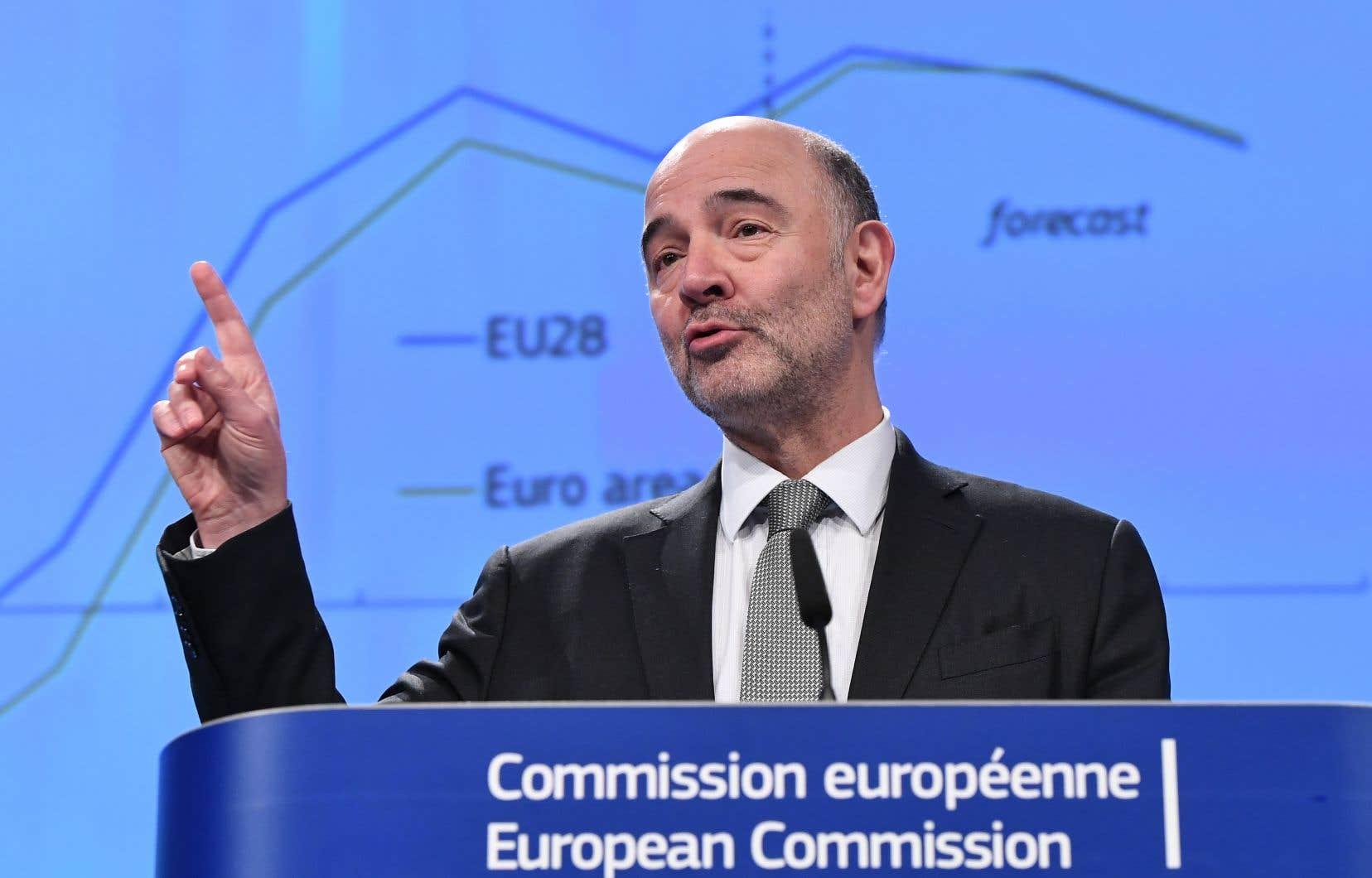 «L'économie européenne affiche une solide santé en ce début d'année 2018», a constaté le commissaire européen aux Affaires économiques, Pierre Moscovici.