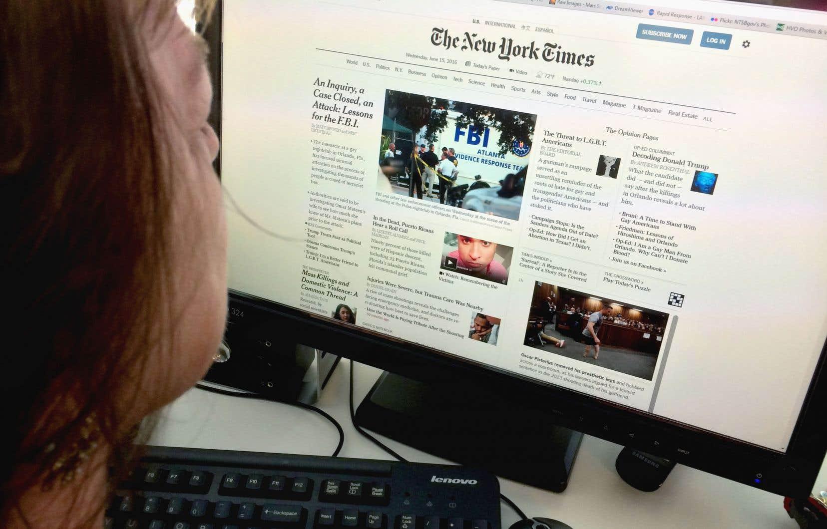 En trois ans seulement, le «New York Times» a triplé le nombre de ses abonnés aux seuls contenus en ligne.