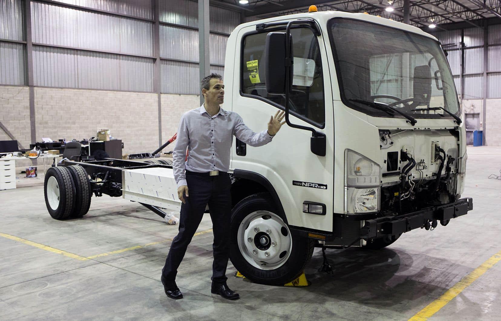 En 2015, Sylvain Castonguay a fondé la société lavalloise Nordresa, qui vend des camions entièrement électriques.