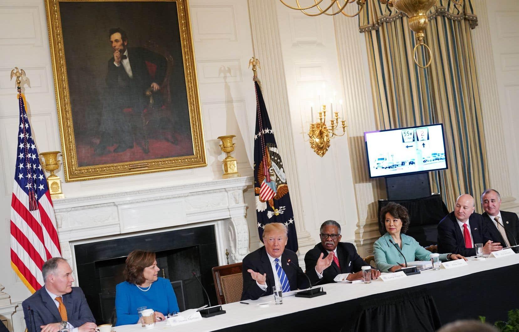 Le gouvernement Trump a dévoilé lundi sa proposition de budget pour l'année fiscale 2019.