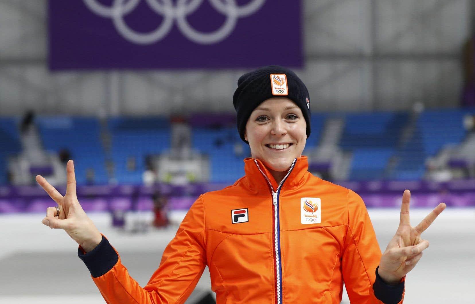Jorien ter Mors a réussi un record olympique lors de l'épreuve du 1000 mètres.