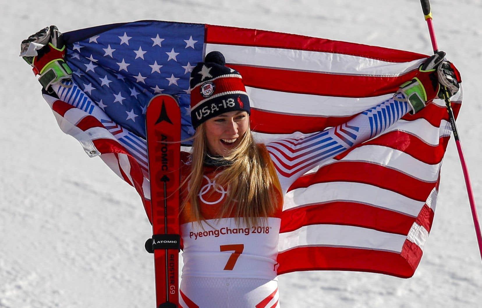 La skieuse américaine a devancé la Norvégienne Ragnhild Mowinckel par 39 centièmes de seconde.