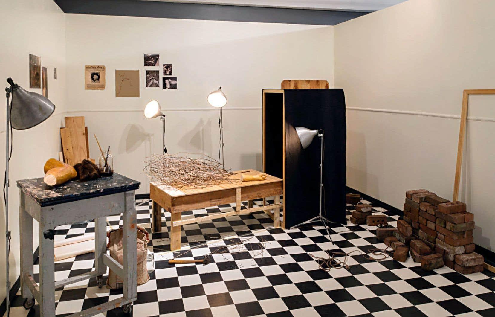 Vue de l'installation de Natascha Niederstrass chez Circa art actuel