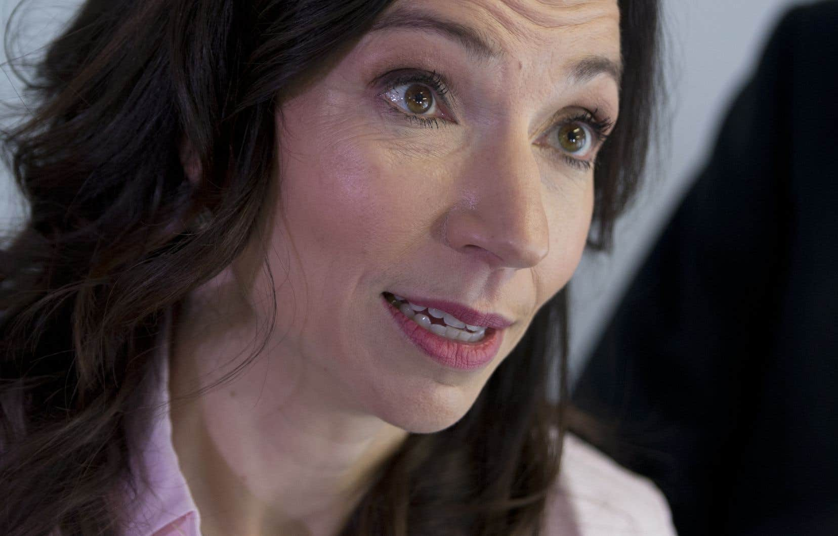 La chef du Bloc québécois et députée péquiste Martine Ouellet