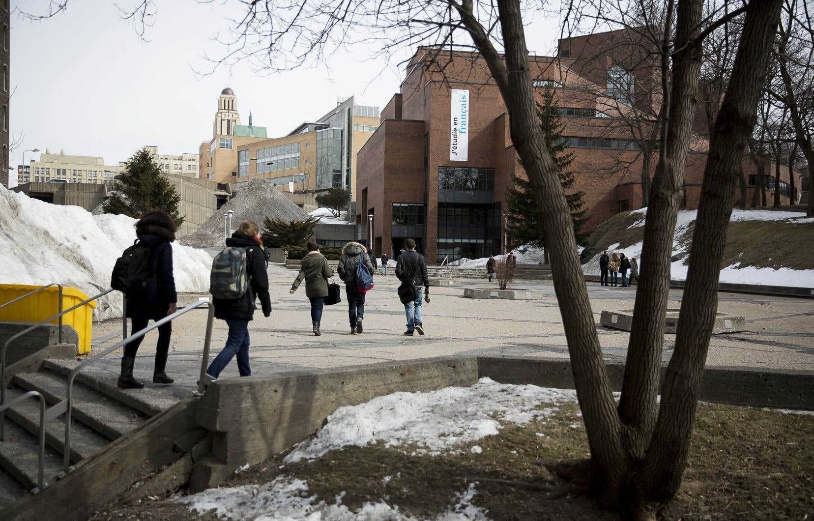 L'Université de Montréal se targue d'être «la plus grande université de langue française en Amérique du Nord», mais l'auteur a été estomaqué par la proéminente proportion des lectures en langue anglaise imposée.