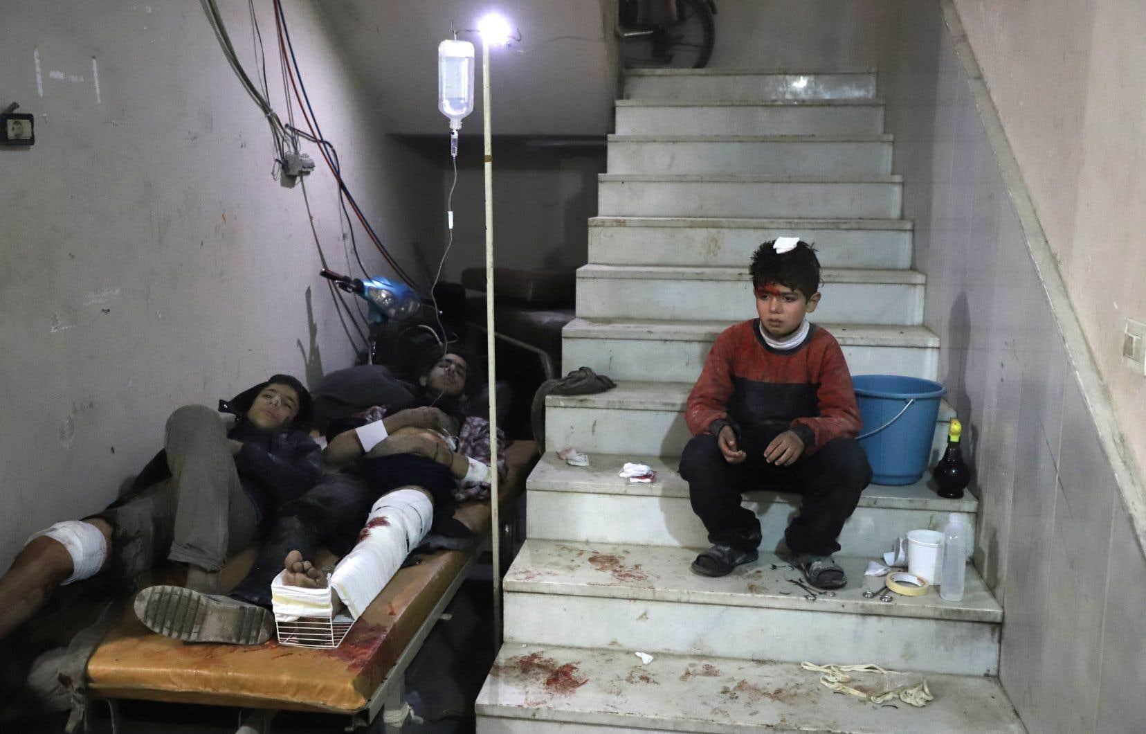Plusieurs hôpitaux ont été touchés par les frappes dans la Ghouta orientale.