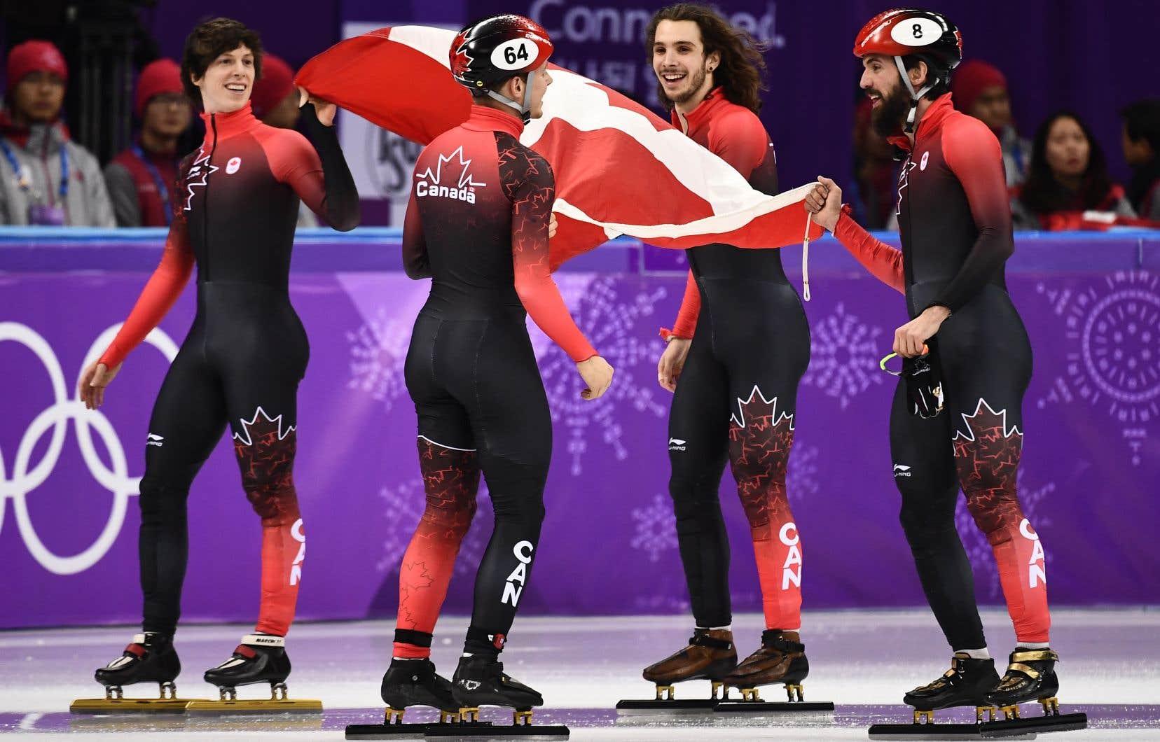 Patinage de vitesse: le Canada décroche le bronze au relais masculin