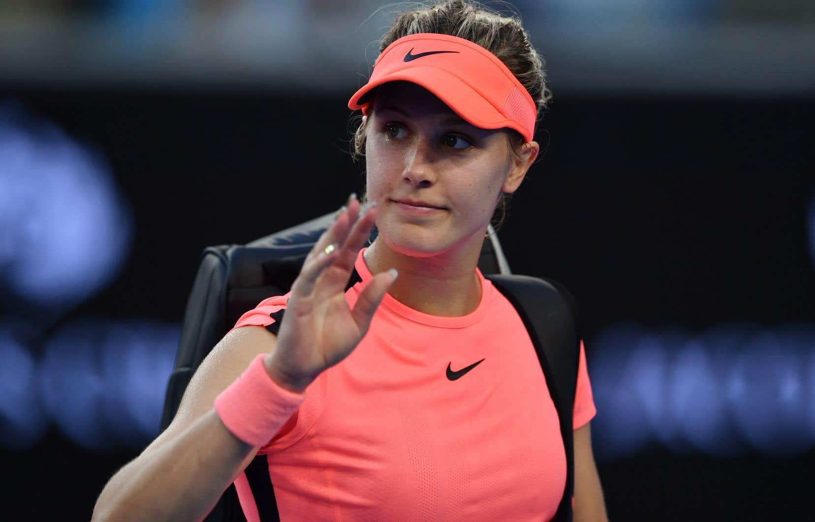 Lors du procès, la vedette du tennis Eugenie Bouchard a relaté les circonstances qui ont mené à ce qu'elle glisse et chute sur un plancher mouillé dans le vestiaire en 2015.