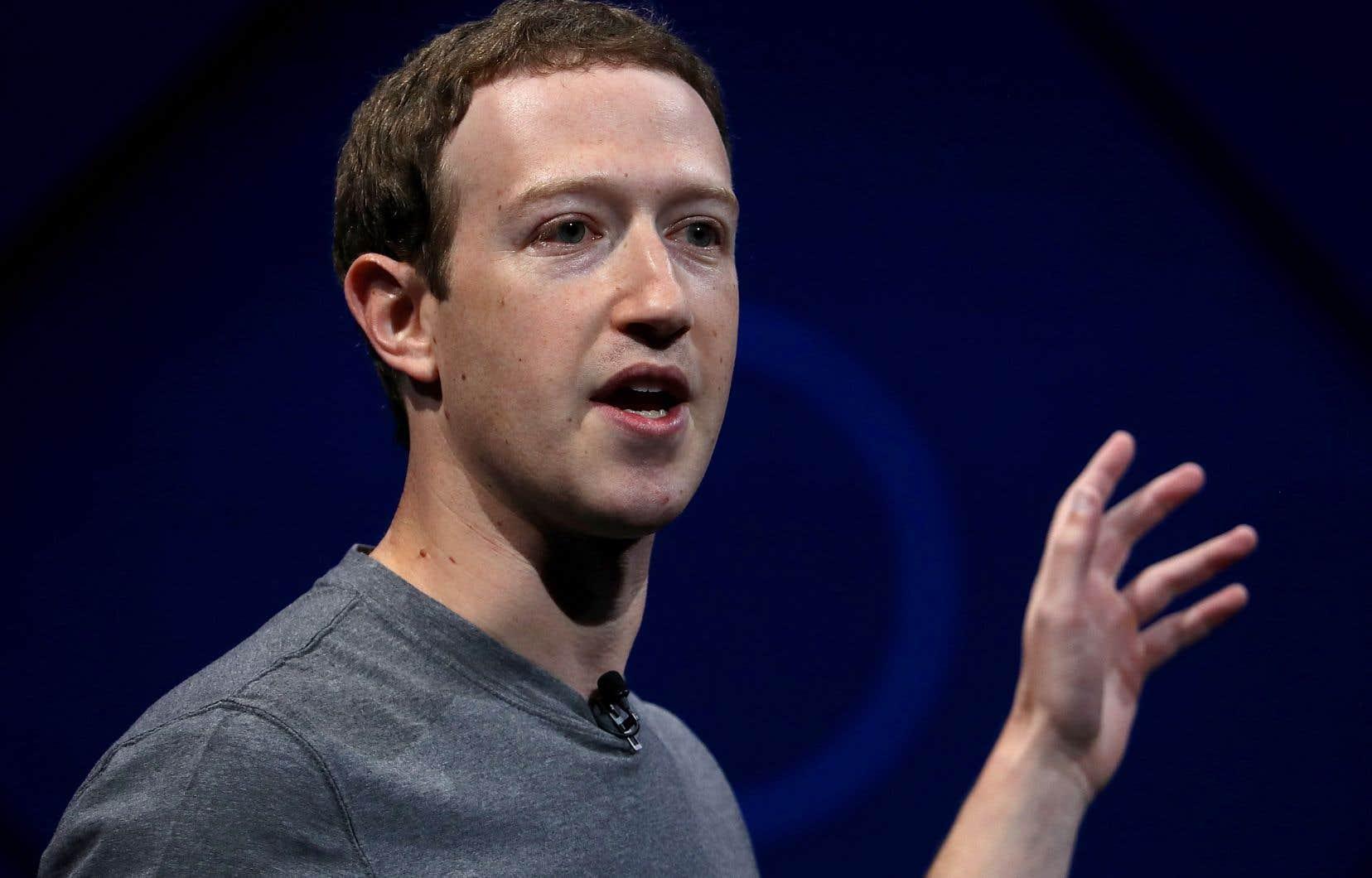 Le président de Facebook, Mark Zuckerberg