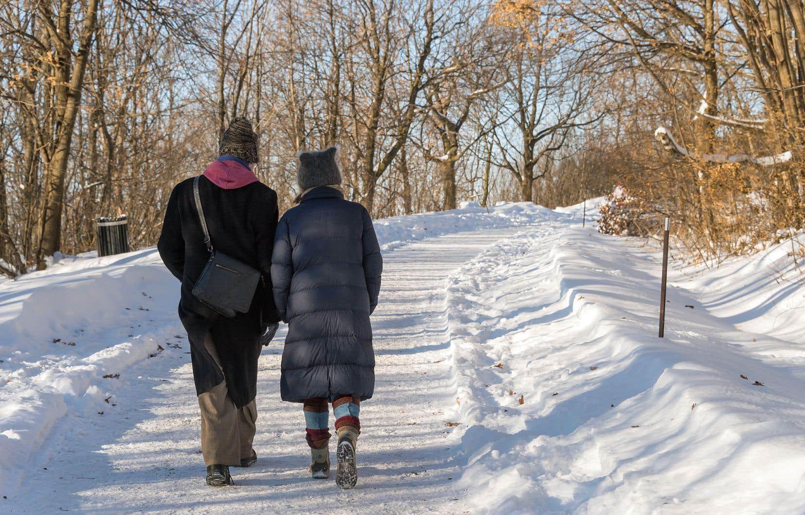 Pour plusieurs Montréalais âgés, l'accès au mont Royal deviendrait difficile si le projet de l'administration Plante était appliqué.