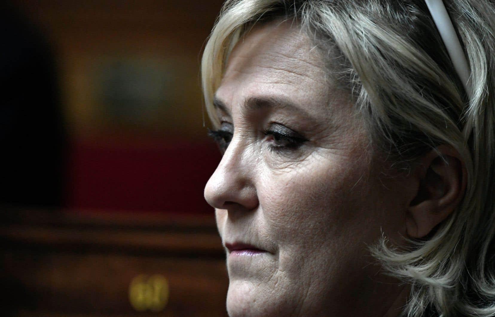 La présidente du parti français d'extrême droite Front national, Marine Le Pen