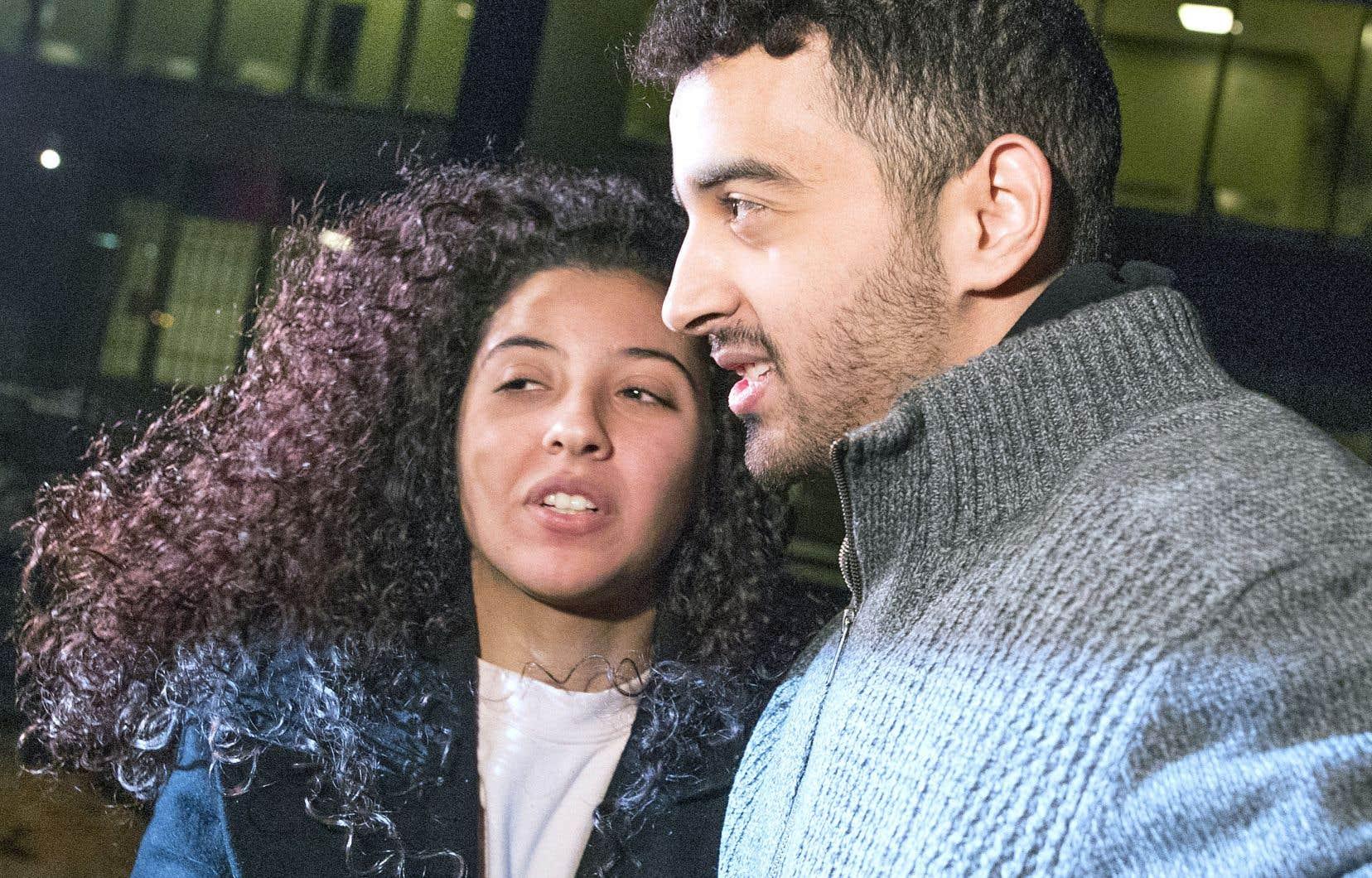 Sabrine Djermane et El Mahdi Jamali,deux anciens étudiants du collège de Maisonneuve acquittés d'accusations de terrorisme