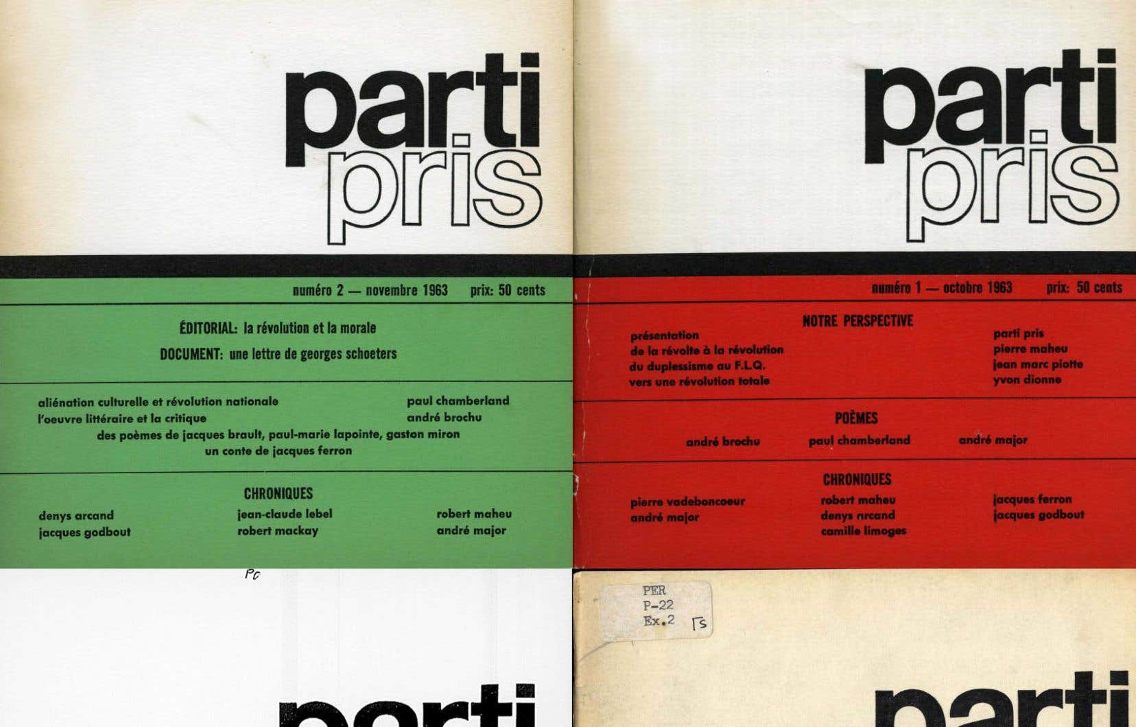 Les premiers numéros de «Parti pris», une revue qui a changé le Québec.