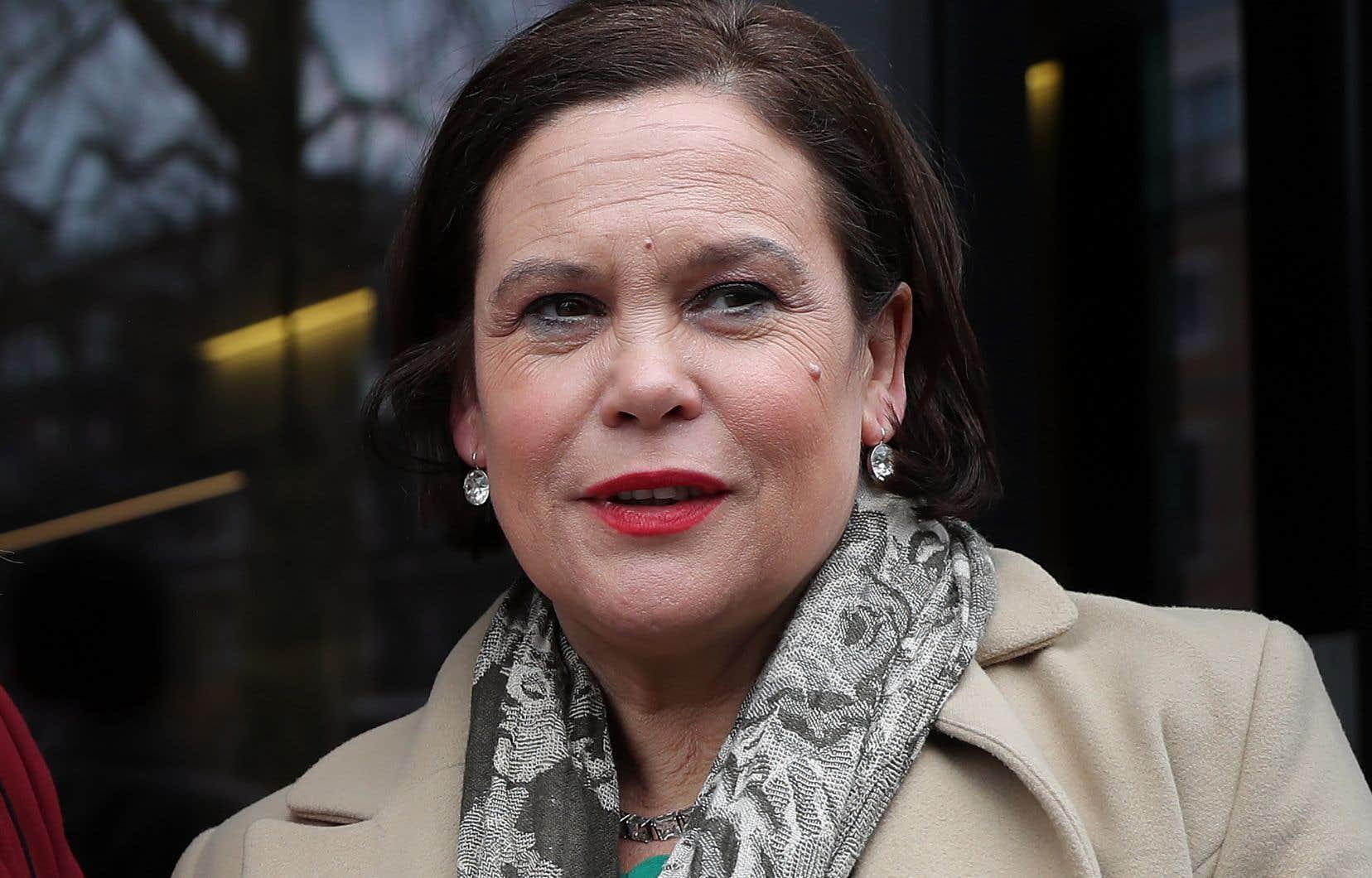 La nouvelle chef du Sinn Féin, parti souverainiste irlandais et nord-irlandais, Mary Lou McDonald, était de passage à Londres la semaine dernière.